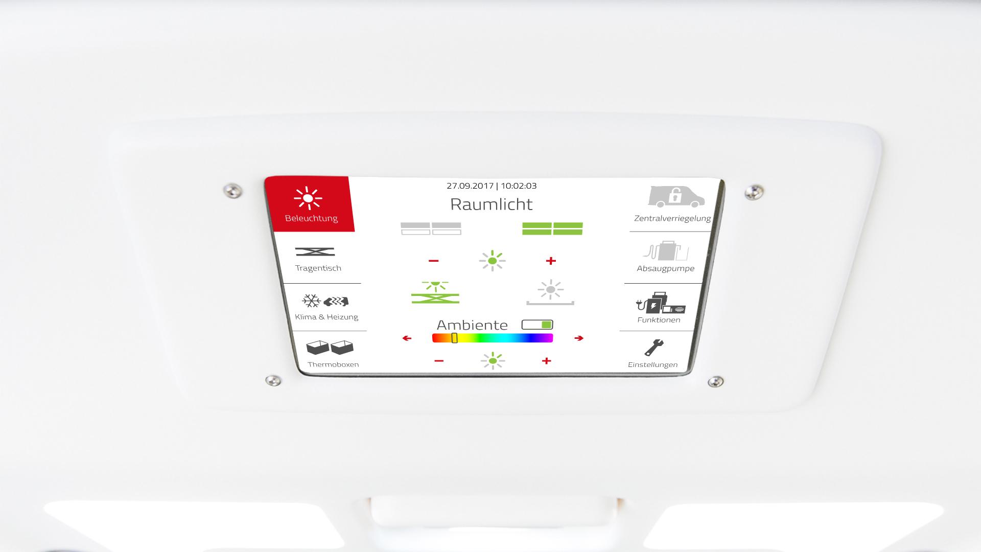 Touchdisplay, inomatic GmbH, Touch-Display, CAN-Bus Touchdisplay, Anezigedisplay, Touchdisplay 7Zoll, Bedienteil, Schalterleiste, Bedienelement, CAn Bus Tastatur